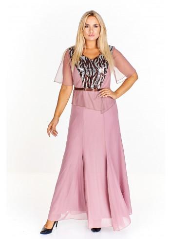 Wieczorowa sukienka z ozdobną górą Plus Size