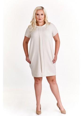 Sukienka pudełkowa z ozdobną kontrafałdą Plus Size