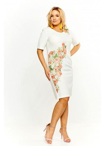 Sukienka z gipiurowym wzorem