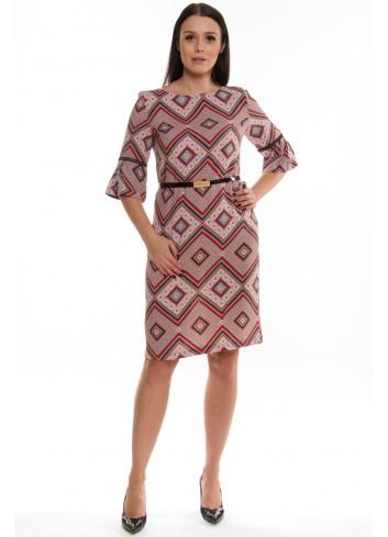 Wzorzysta sukienka Plus Size