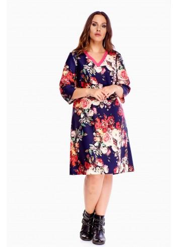 Sukienka w modny wzór duży rozmiar XXL