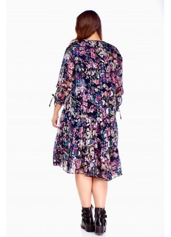 Modna sukienka w kwiaty Plus size