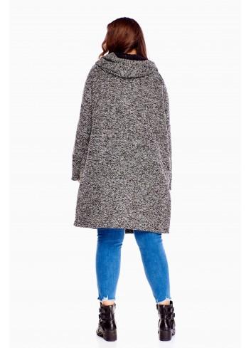 Oryginalny sweter przypominający płaszcz Plus Size