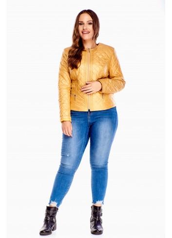 Pikowana kurtka jesienno-wiosenna Plus Size