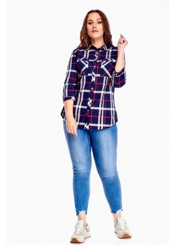 Bluzka koszulowa z rękawem 3/4 PLUS SIZE