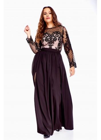 Wieczorowa sukienka maxi PLUS SIZE