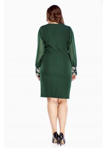 Modna sukienka zielona ołówkowa Plus size