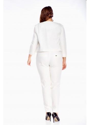 Taliowany dopasowany krótki żakiet elegancki do sukienki XXL