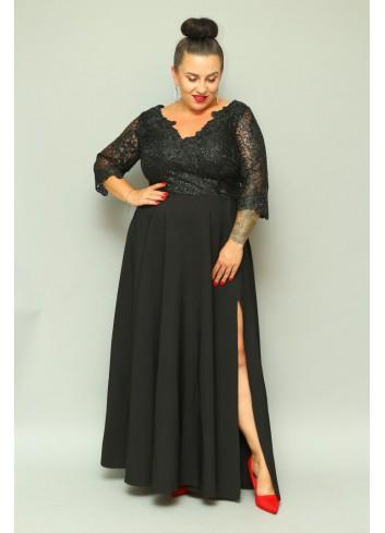 Sukienka wieczorowa maxi z cekinami Plus Size