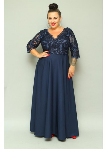 ELEGANCJA Sukienka wieczorowa maxi Plus Size