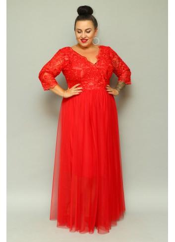 Sukienka maxi wieczorowa księżniczka Plus Size