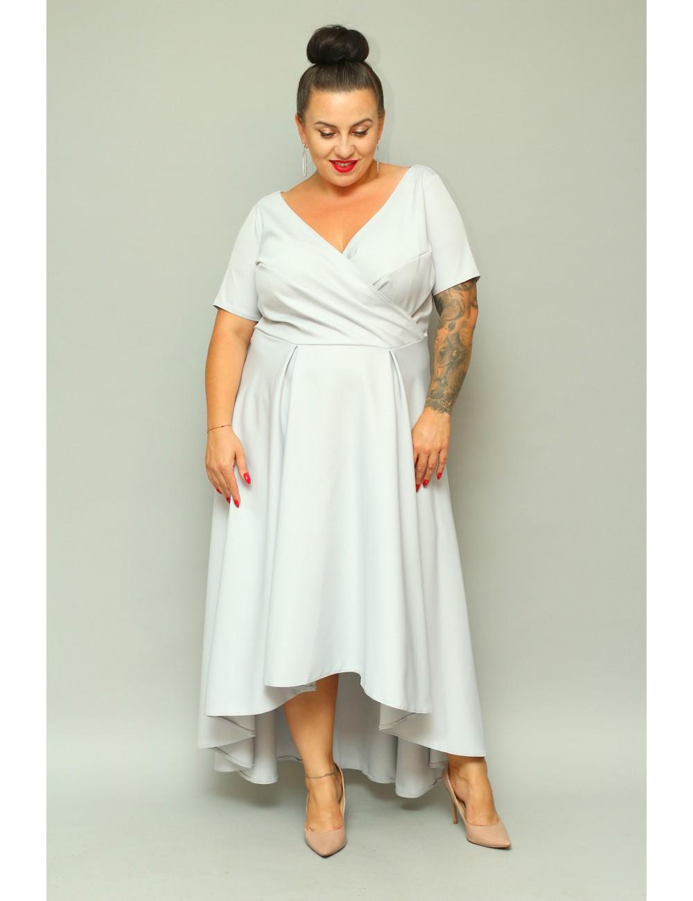 Elegancka wieczorowa sukienka maxi Lopez plus size na wesele