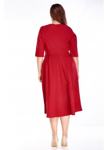 Czerwona sukienka luźna duży rozmiar XXL
