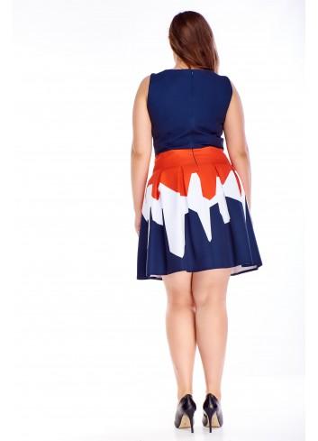 Sukienka trapezowa Plus Size dla puszystej