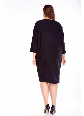 Czarna sukienka luźna oversize Plus size XXL