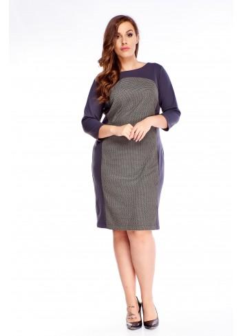 Sukienka do biura Plus size duży rozmiar XXL