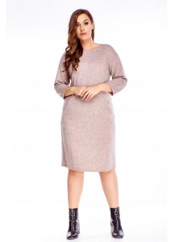 Elegancka sukienka do pracy dla puszystej Plus Size