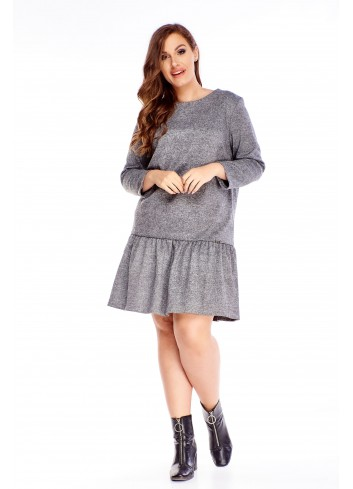 Sukienka dla puszystej midi XXL duży rozmiar