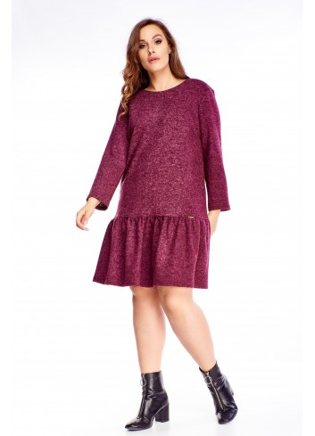 Sukienka krótka midi dla puszystej duży rozmiar