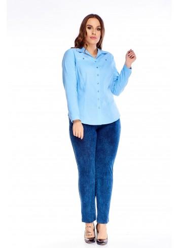 Bawełniana bluzka o koszulowym kroju PLUS SIZE