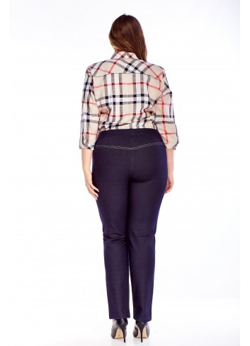 spodnie legginsy  o dopasowanym kroju