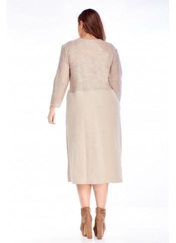 lniana sukienka o luźnym kroju