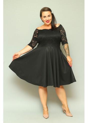 Sukienka na wesele rozkloszowana Carmen Plus Size SHINE