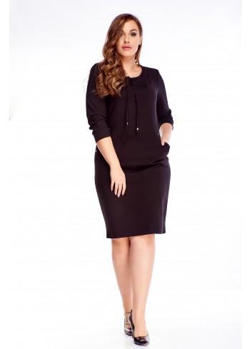 Elegancka prosta sukienka do pracy i na co dzień Plus Size