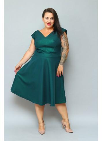 Sukienka Elegancka rozkloszowana SHINE Plus size