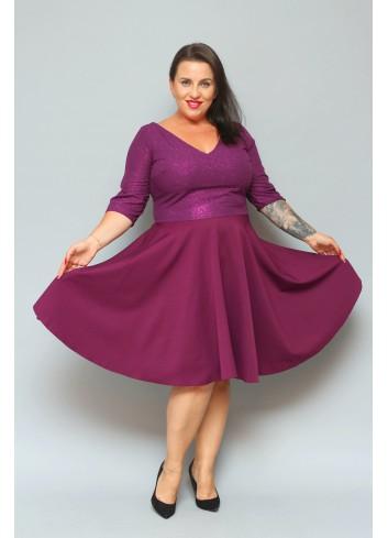 Sukienka EFEKTOWNA rozkloszowana SPARKLE