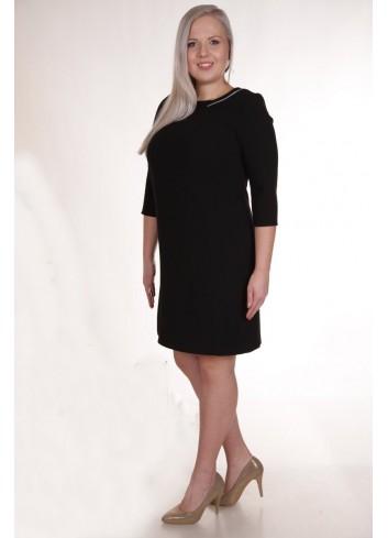Trapezowa sukienka z wstawką na przodzie Plus Size