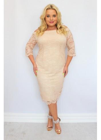 Sukienka ołówkowa koronkowa na wesele +Size