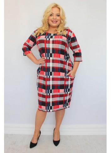 Sukienka oversize z kieszeniami Plus SIZE