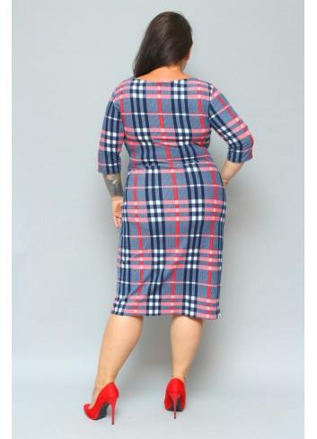 Sukienka codzienna ołówkowa w kratkę Plus Size