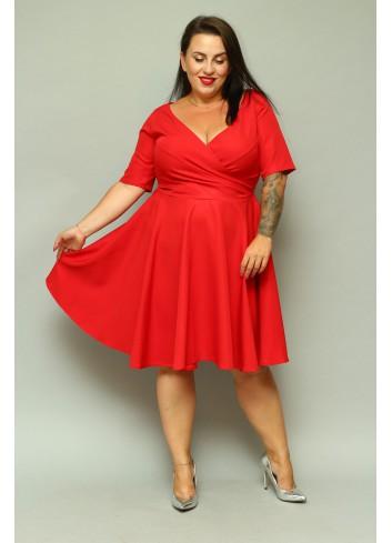 -40 % POMOCJA Sukienka weselna rozkloszowana SHINE Plus Size