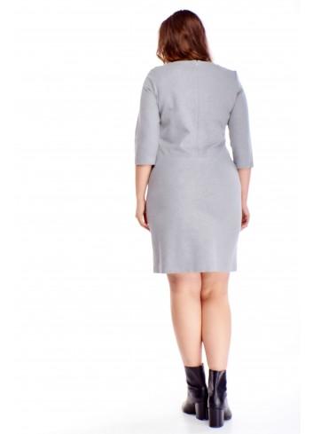 Sukienka z kieszeniami i ozdobnym ekspresem na biuście PLUS SIZE