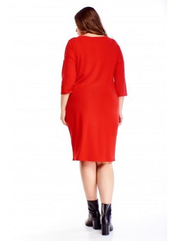 Sukienka z wiązaniem przy szyi PLUS SIZE