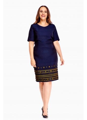 Sukienka ołówkowa do pracy Plus size