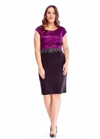 Ołówkowa sukienka na wesele dla puszystych duże rozmiary