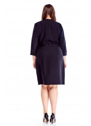 Uniwersalna oryginalna sukienka z kieszeniami i wiązaniem XL