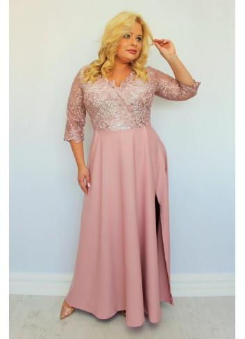 PROMOCJA -30% Sukienka wieczorowa maxi z cekinami Plus Size