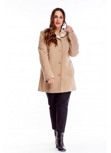 Elegancki płaszcz dla puszystej Plus Size XXL