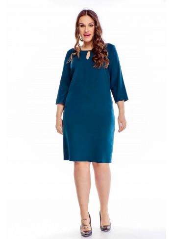 Sukienka dla puszystych Eksi do pracy Plus Size