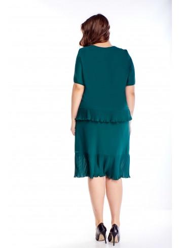 Sukienka z plisowanymi falbankami dwuczęściowa PLUS SIZE