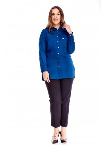 bawełniana bluzka o koszulowym kroju