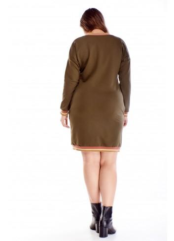bawełniana sukienka z ozdobną lamówką