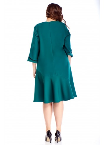 sukienka o kroju litery A z falbanami