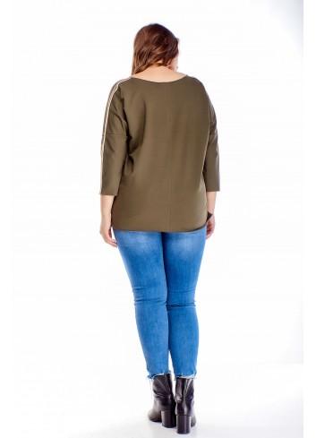 bawełniana bluza z lampasami