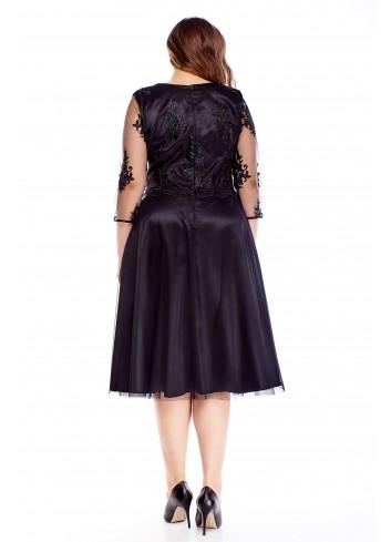 Elegancka rozkloszowana sukienka na wesele duże rozmiary