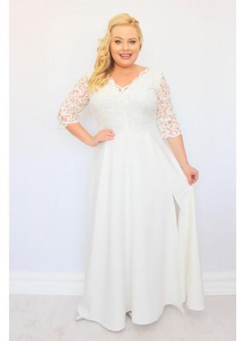 ELITE Sukienka Ślubna maxi cekiny Duże rozmiary
